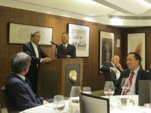 Dr York Liao and President was answering a question from the floor.