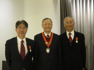 Ir. Francis BONG (President 2007-2010), Prof. Y L CHOI (President 2013-) and Prof. Joseph LEE (President 2010-2013) (from right to left) after the AGM