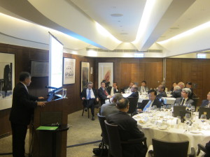 """2nd Academy Dinner 2014, Ir. Paul Poon delivered a speech on """"Power Supply for Hong Kong"""""""