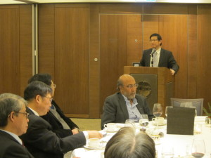 "Prof. Jian Lu was giving a report on the ""Collaborative Research Project with CityU on Nuclear Energy """